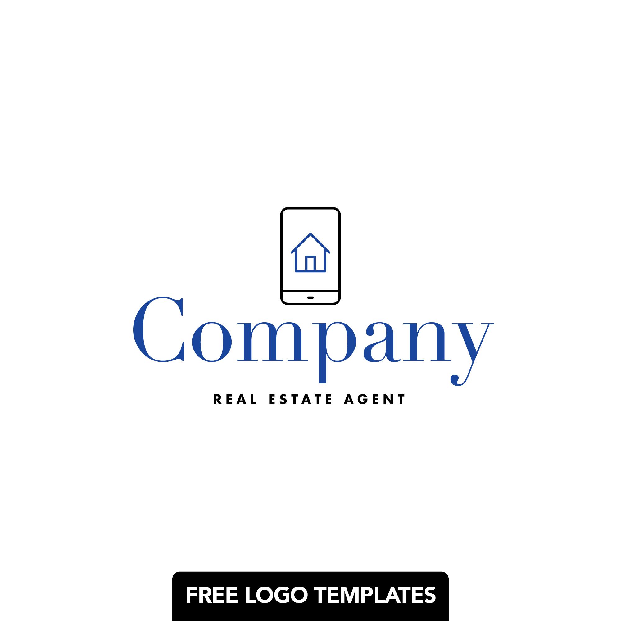 Free Logo Templates: Real Estate Readymade Template | Photoshop (PSD) and Illustrator (AI) Files Provided